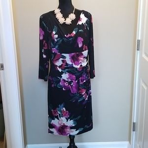 Like new Ralph Lauren fully lined knit dress